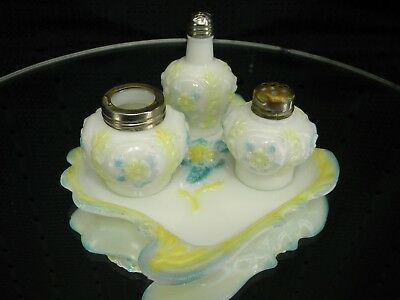 Eagle Glass COSMOS SCROLL Rare Condiment Set