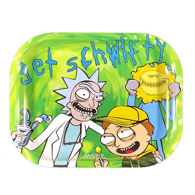 "Smoke Arsenal Premium Rolling Tray Rick & Morty ""Get Schwifty"" 7""x5.5"""
