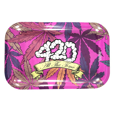 "Smoke Arsenal Premium Rolling Tray ""420 All The Time"" 7""x11"""