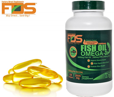 Pure Omega 3 Fish Oil Concentrate-Enteric Coated Burpless 2000MG 120gels