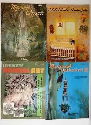 Lot of 4 Vintage 1970s Macrame Craft Books
