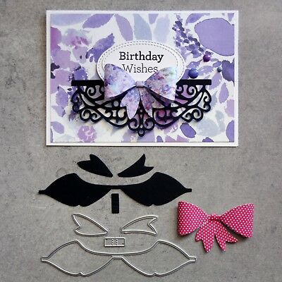 """CLEARANCE"" Shopaperartz BOW 4 PCE CUTTING DIES BIRTHDAY WEDDING CARDMAKING"