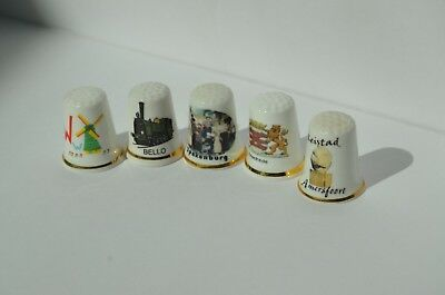 Lot of 142 Collectible Thimbles Bone China, Pewter, Porcelain, Silver Europe, US