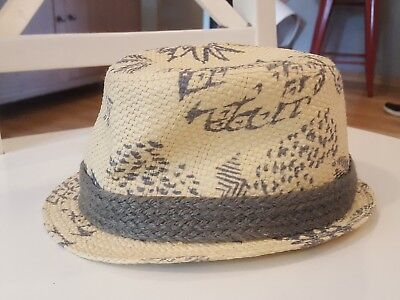 Boys FEDORA  Hat Tan w/ Pineapple print  FORE!! Axel & Hudson Size XS Excellent!