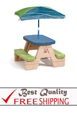 Step2 sit and play picnic table with umbrella new 5495 picclick step2 sit and play kids picnic table with umbrella watchthetrailerfo