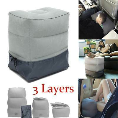 Inflatable Leg Foot Rest Footrest Pillow Recliner Relax Cushion Pad Travel Plane