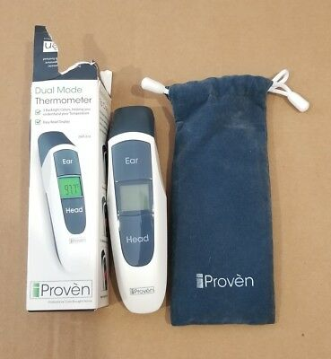 iProven Dual Mode Medical Forehead Ear Thermometer  DMT-316.  DISTRESSED BOX