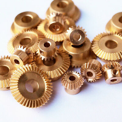 1 Pair Bevel Gear Copper Gear 90 ° Pairing 1:2 0.5 Modulus 20T/40T Bore 3mm/6mm
