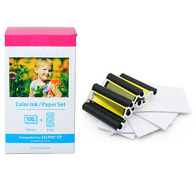 KP-108IN Color Ink & Paper Set for Canon Selphy CP910 CP900 CP1200 CP1300 3 x 6
