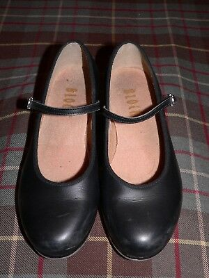 Bloch Women's Black Leather Mary Jane Tap Shoes, Techno Tap 3H 2T, Size 6.5M