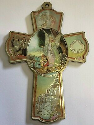 Wooden Wall Religious Cross Icon- Loving brid
