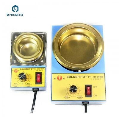 Adjustable AC 220V Lead Free Solder Pot Tin Melting Furnace 38mm-100mm 100-300W