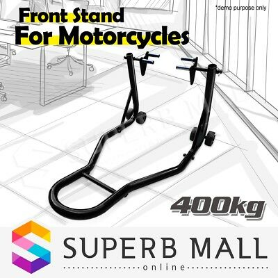 Motorcycle Front Stand Heavy-Duty Motorbike Lift Paddock Carrier Bike Fork Steel