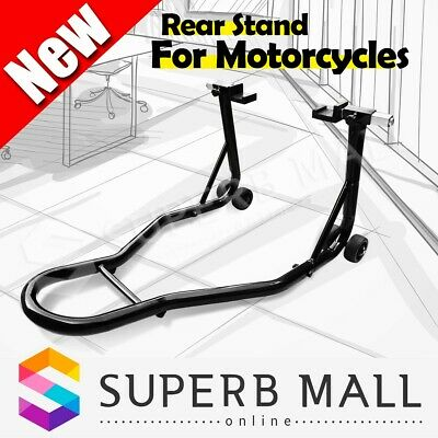 Steel Rear Motorcycle Stand Heavy-Duty Motorbike Lift Paddock Carrier Bike Fork