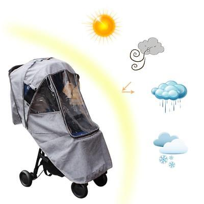 Baby Car Rain Cover Weatherproof Windshield Stroller Raincoat Trolley Accessorie