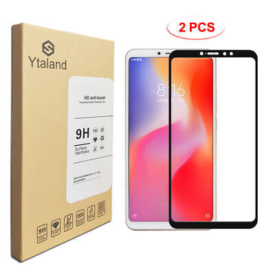 Ytaland 2Pcs Full Cover Tempered Glass Screen Protector For Xiaomi Mi Max 3
