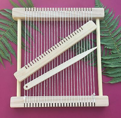 "Weaving Loom Craft Kit -"" Barn Owl "" Large Hand-made Steiner Inspired Loom"