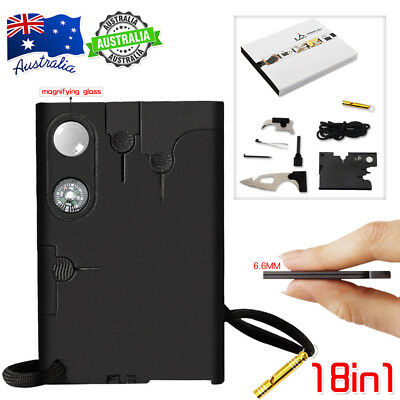 18-in-1 Multi Wallet Pocket Credit Card Knife Camping Outdoor Survival Tools