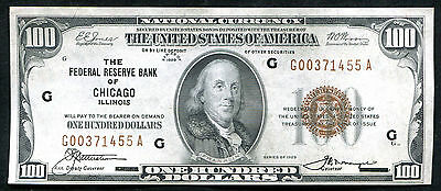Fr. 1890-G 1929 $100 Frbn Federal Reserve Bank Note Chicago, Il Uncirculated