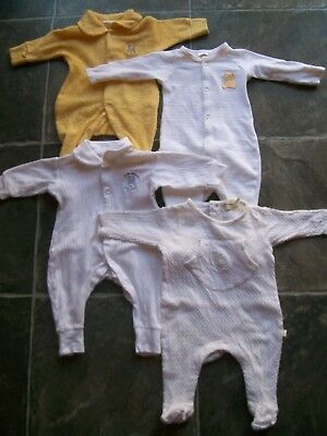 Baby's Unisex Bonds & Marquise Yellow & White Coverall x 4 Size 000 VGUC