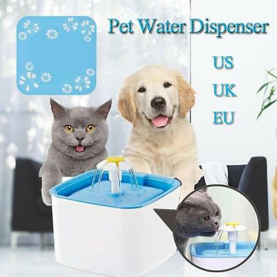 Automatic Cat Dog Pure Water Drinking Fountain Pet Bowl Dish Filter Dispenser