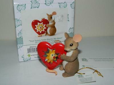 Charming Tails Mouse Your Sunny Smile Warms My Heart Figurine Members Only 2015