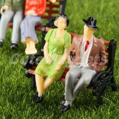 100pcs Painted Model People Figures Sitting Train Scenery Diorama Layout 1:100