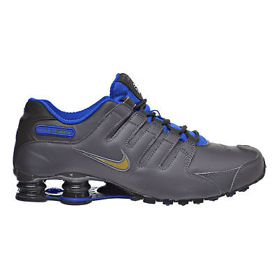 outlet store eaa68 30027 Mens Nike Shox NZ Premium Sneakers New, Dark Gray   Blue 833579-004 SKU