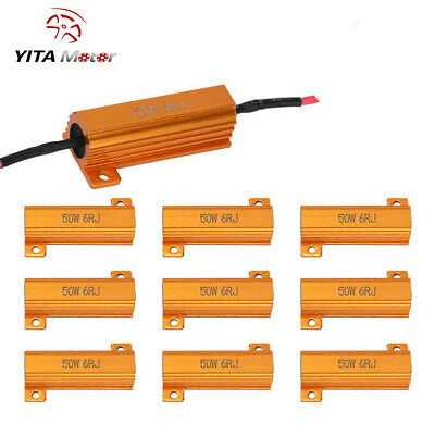 YITAMOTOR 10x 50W 6ohm Load Resistors FIX Dashboard Flicking LED Xenon HID SMD