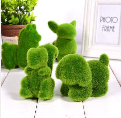 Lovely Animal Simulation Green Grass Ornaments Emulational Green Plant Bonsai