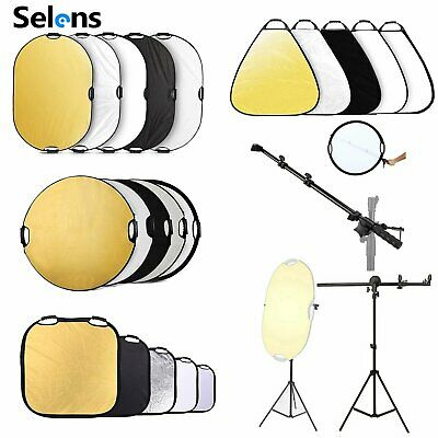 Selens 5 In 1 Portable Light Reflector Folding with Handle Lighting Photography