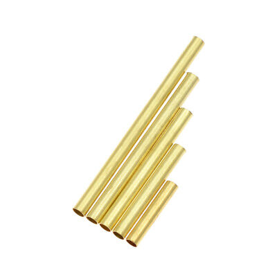 100Pcs Brass Jewelry Making Materials Tube DIY Hanging Macrame Accessories Parts