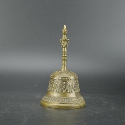 Chinese old collection handwork bronze Small bell vajra bell Weapons statue