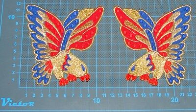 """JEANS PATCH Elvis Presley jumpsuit cape american eagle costume embroidery 4.7"""""""