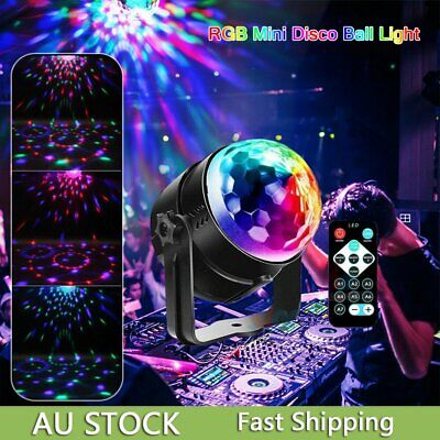 New Laser Crystal Magic Ball Disco Party DJ LED RGB Stage Effect Light Lamp