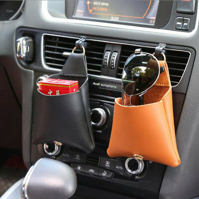 Car Accessorie Universal Storage Box Faux Leather Organizer Pouch Package N7