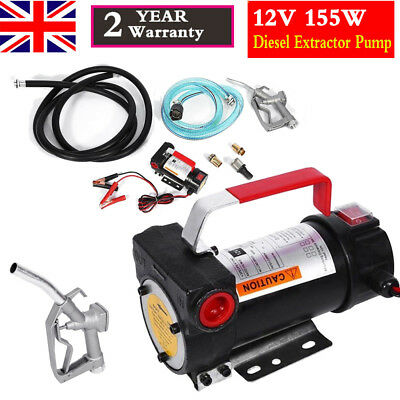 Portable 12V Diesel Fluid Extractor Electric Transfer Pump Car Auto Fuel 155W