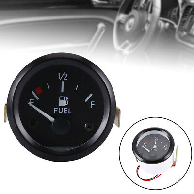 "Willkey 52mm 2"" LED Fuel Level Gauge Fuel Indicator for Car Boat E-1/2-F Pointer"