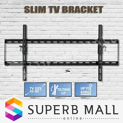 "New 42-80"" inch TV Bracket LCD LED Plasma Flat Slim Tilt Wall Mount Up to 60kg"
