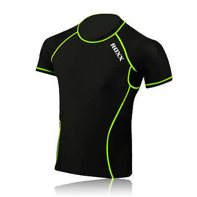 Mens Boys Body Armour Compression Baselayers Under Shirt Top Skins ROXX Sports