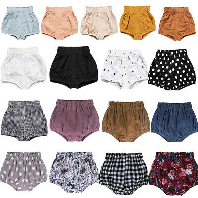 UK Infant Baby Girl Boy Cotton Shorts PP Pants Nappy Diaper Covers Bloomer 3M-6Y