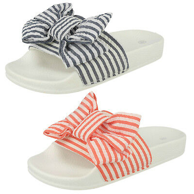 WHOLESALE Girls Stripey Sliders / Sizes 10-2 / 18 Pairs / HW0278
