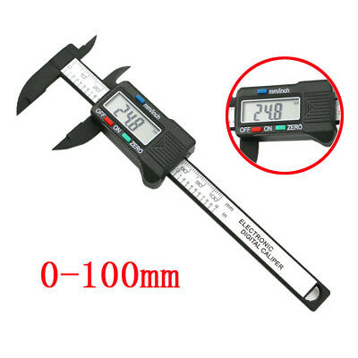 100mm/4inch LCD Digital Electronic Carbon Fiber Vernier Caliper Gauge Micromete