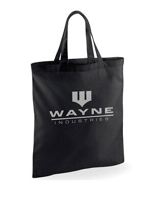 batman wayne industries sac fourre-tout en coton officiel shopping eco réutilisa