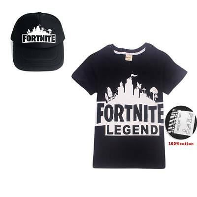 Fortnite Hat Battle Royale Kids Boys Girls Xbox Gaming Growing  T-shirt Hosen AU