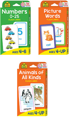 Children's Flash Cards Kids Educational Pre School Learning Numbers Animals Gift