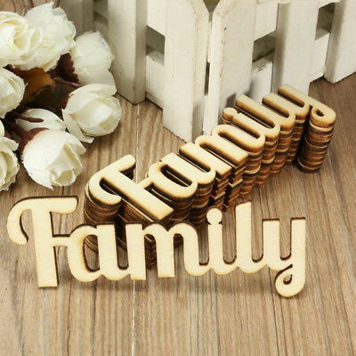 Pack of 10pcs Family Shape Wooden Craft Wooden Pieces Scrapbook Decor