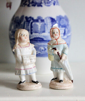 A Petite Pair of Ceramic Figurines, c1900
