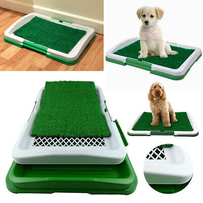 Indoor Puppy Dog Pet Potty Training Pee Pad Mat Tray Grass House Toilet UK Stock