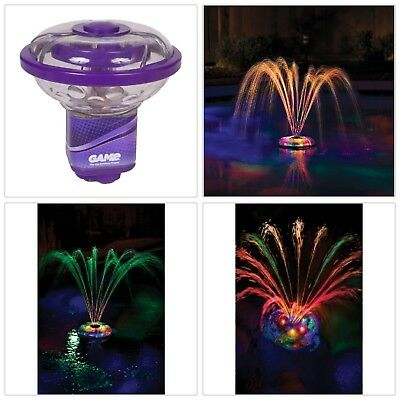 Swimming Pool Spa Led Light Spinning Small Underwater Floating Fountain Decor